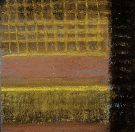 Waffle - Pastel on Corrugated Cardboard