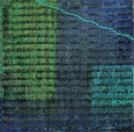 Night Garden - Pastel on Corrugated Cardboard