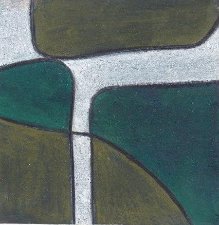 Green Dream - Pastel on Archival Board