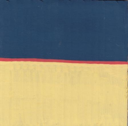 Red Stripe - Gouache on Corrugated Cardboard